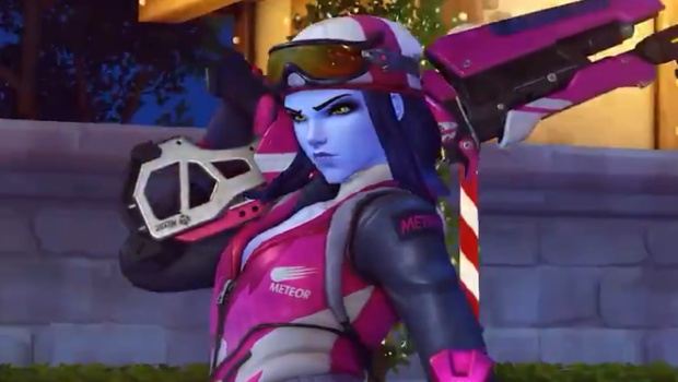 Overwatch Winter Wonderland screenshot of Biathlon Widowmaker