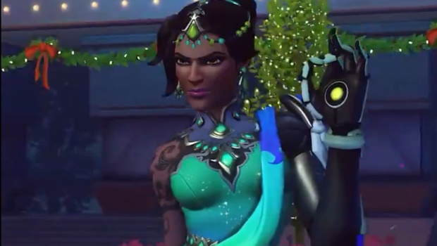 Overwatch Winter Wonderland screenshot of Figure Skater Symmetra
