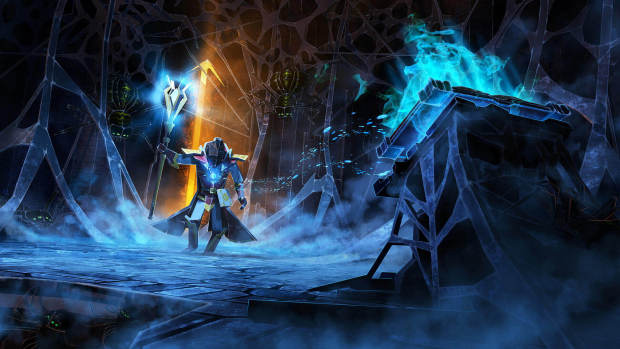 World of Demons screenshot of the Mage freezing his enemies
