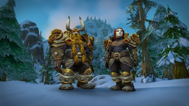 World of Warcraft screenshot of the Dwarf Heritage Armor from the Tides of Vengeance patch