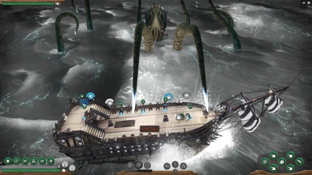 Abandon Ship screenshot of a giant Kraken attack