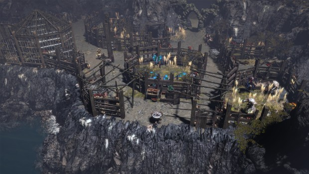 Path of Exile screenshot of a bunch of caged beasts