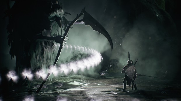 Sinner: Sacrifice for Redemption screenshot of a giant crow boss attacking our hero