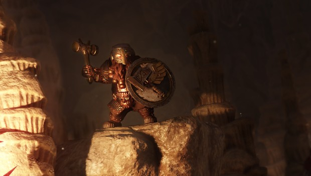 Warhammer: Vermintide 2 screenshot of Bardin in his Ironbreaker suit