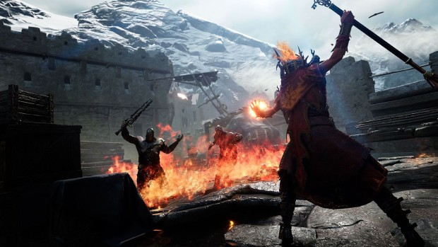 Warhammer: Vermintide 2 screenshot of Sienna the Bright Wizard burning her enemies