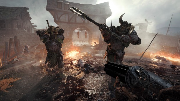 Vermintide 2 screenshot of Chaos Warriors