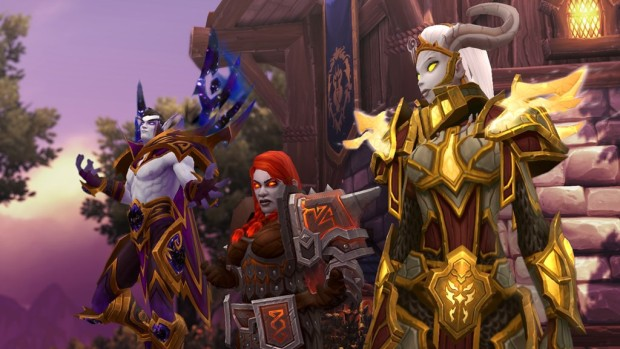 World of Warcraft screenshot of allied races for the Alliance