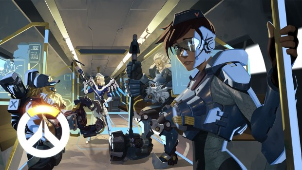 Overwatch artwork of last year's Uprising PvE event