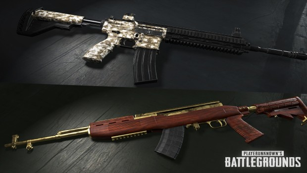 PUBG screenshot of the new rifle weapon skins