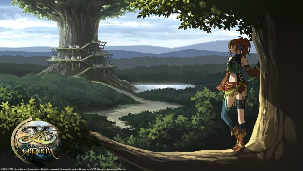 Ys: Memories of Celceta official artwork and logo