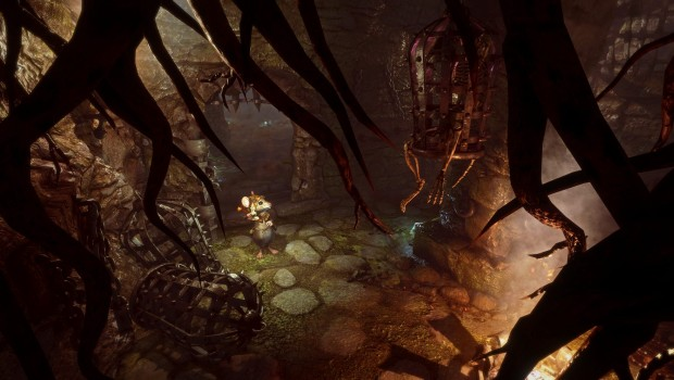 Ghost of a Tale screenshot of a small mouse in a terrifying world