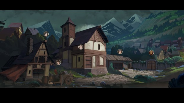 Ash of Gods: Remdeption screenshot of the small town