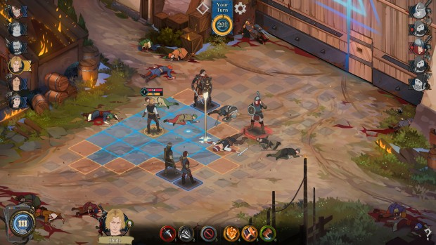 Ash of Gods: Remdeption screenshot of the turn-based combat