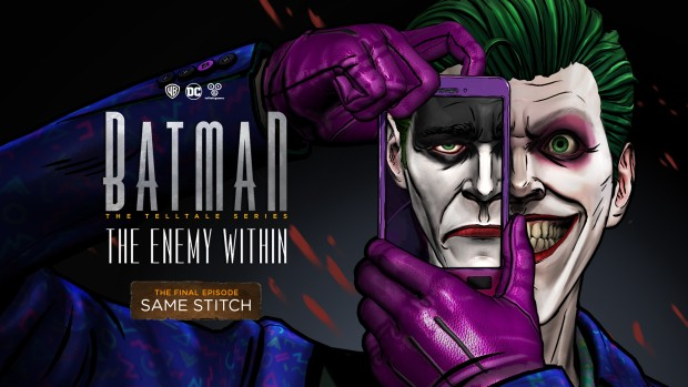 Telltale's Batman: The Enemy Within official artwork showing Joker's duality