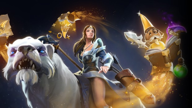 Dota 2 screenshot of the in-game assistant