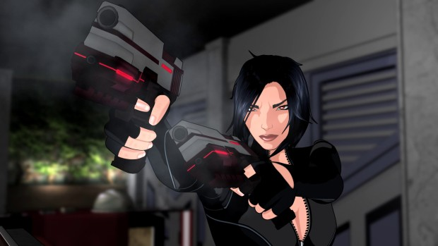 Fear Effect Sedna close up screenshot of the main character