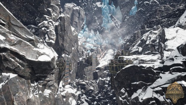 Firmament screenshot of a frozen landscape