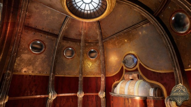 Firmament screenshot of a strange domed structure