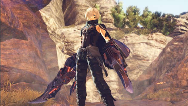 God Eater 3 screenshot of the main character from up close