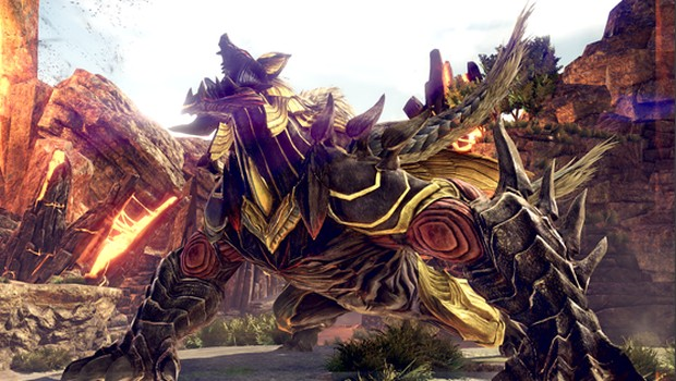 God Eater 3 screenshot of a gigantic monster