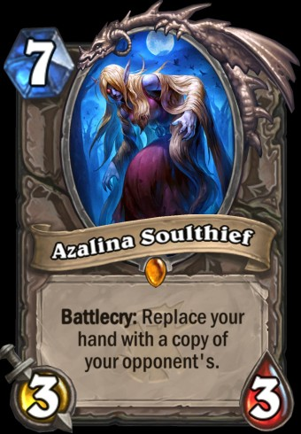 Hearthstone: The Witchwood expansion screenshot of Azalina Soulthief