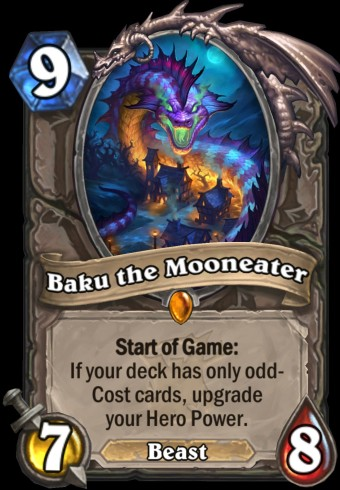 Hearthstone: The Witchwood expansion screenshot of Baku the Mooneater