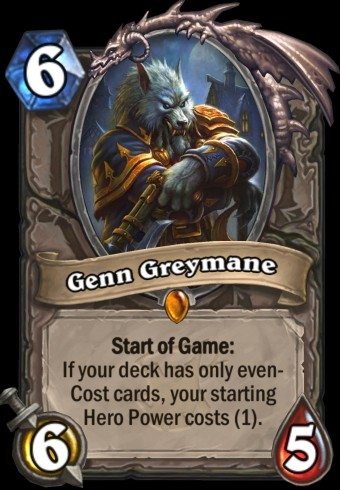 Hearthstone: The Witchwood expansion screenshot of Genn Greymane