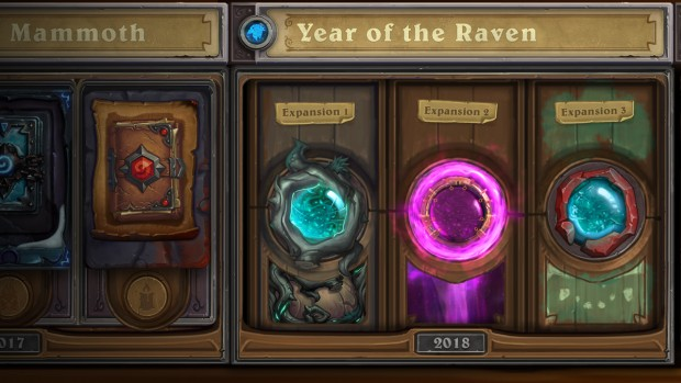 Hearthstone screenshot of the new Year of the Raven