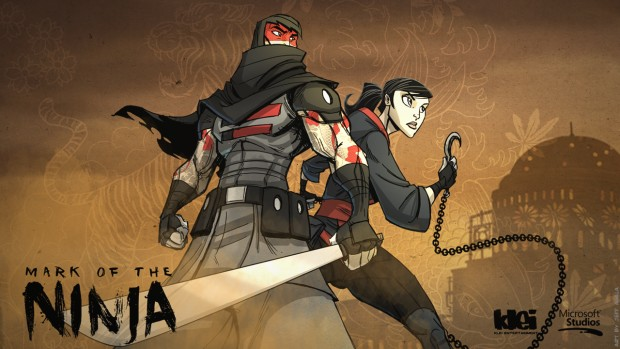 Mark of the Ninja official artwork showing the two main characters