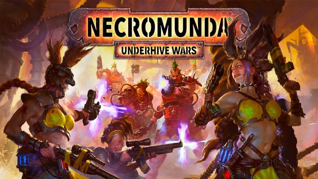 official artwork and logo for Necromunda: Underhive Wars