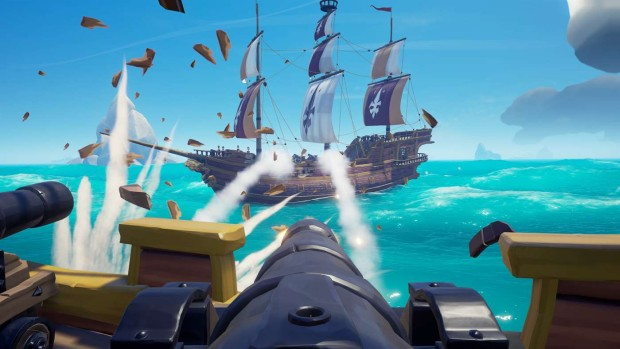 Sea of Thieves full-on cannon barrage screenshot