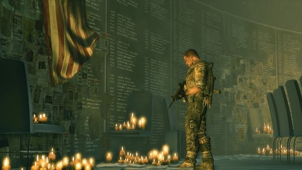 Spec Ops: The Line screenshot of an in-game war memorial