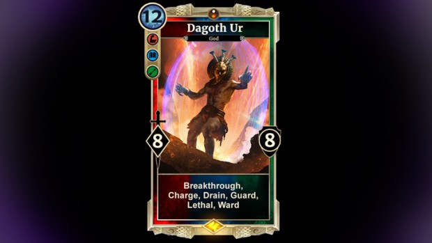 The Elder Scrolls: Legends screenshot of the Dagoth Ur card from Houses of Morrowind