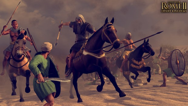 Total War: Rome 2 Desert Kingdoms screenshot of a cavalry charge