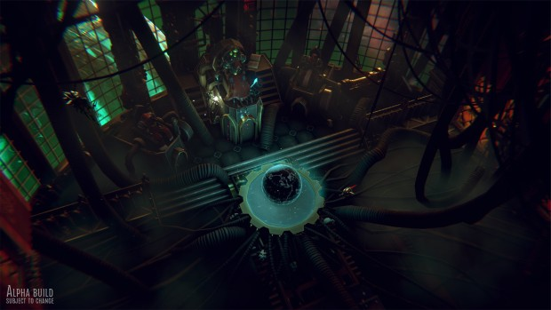 Warhammer 40k: Mechanicus screenshot of the control room