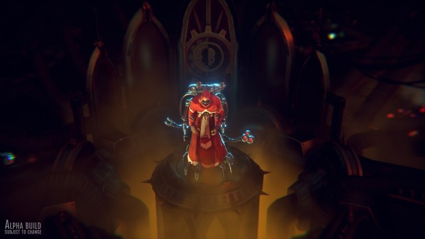 Warhammer 40k: Mechanicus screenshot of the Tech Priest up close