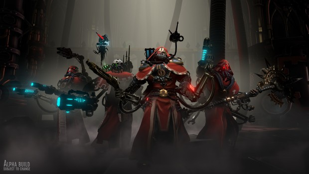 Warhammer 40,000: Mechanicus screenshot of the Tech Priest squad