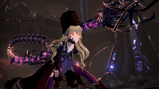 Code Vein screenshot of one of the characters from a cinematic