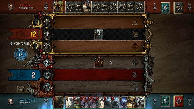 Gwent screenshot of the new Monsters and Nilfgaard themed boards