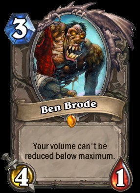 Hearthstone card showing Ben Brode