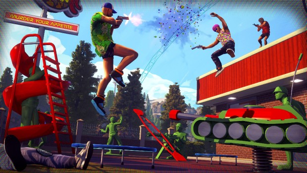 Radical Heights screenshot of a Battle Royale match next to toy soldiers