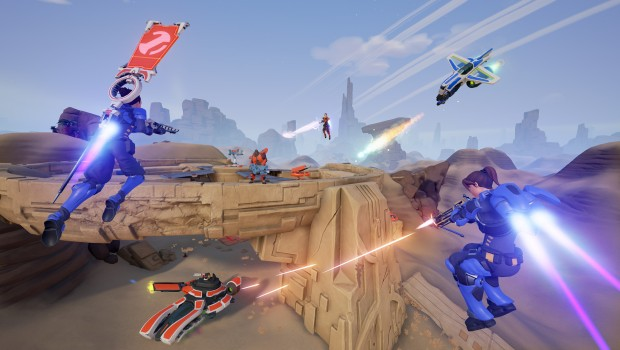Gameplay screenshot of the Tribes inspired shooter Midair
