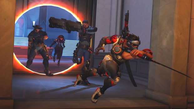 Overwatch screenshot of the Blackwatch team in the Retribution mission