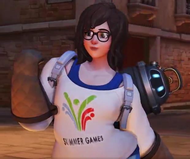 Overwatch Retribution screenshot showing the Pajamei Mei skin