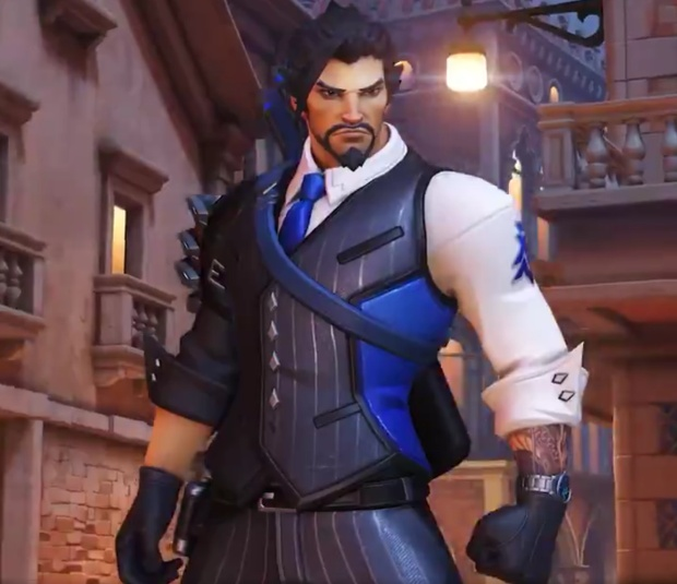 Overwatch Retribution screenshot showing the Scion Hanzo skin