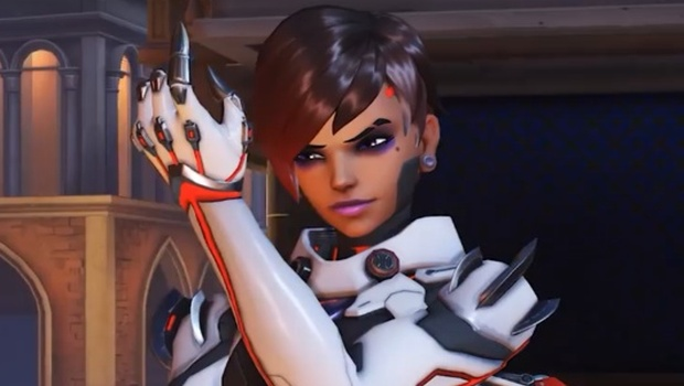A preview image for Sombra's Talon skin from the Retribution event