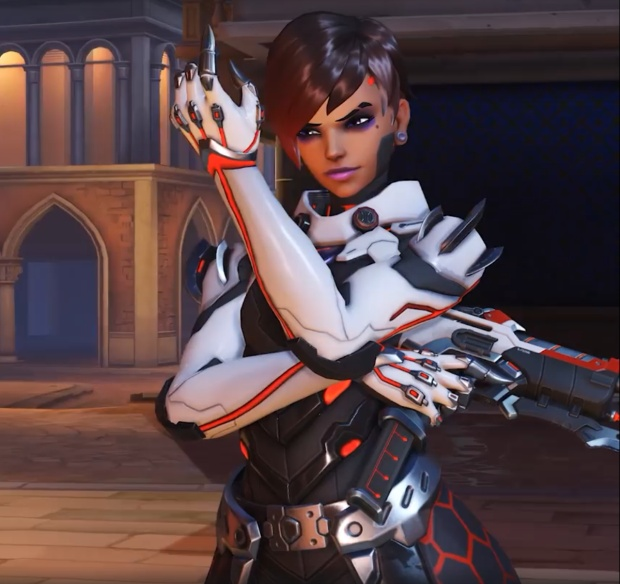 Overwatch Retribution screenshot showing the Talon Sombra skin