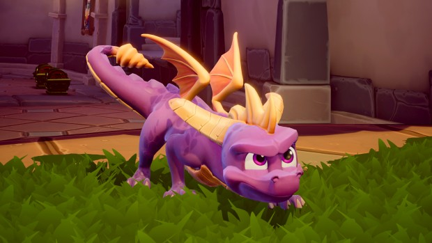 Up close and personal screenshot of Spyro from the Reignited Trilogy