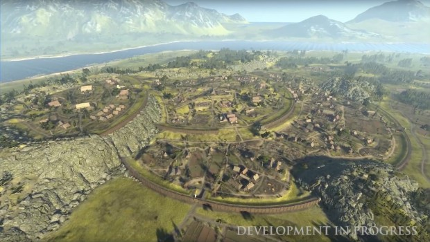 Total War Saga: Thrones of Britannia screenshot of an impressively large city map