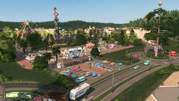 Cities: Skyline - Parklife screenshot of the new amusement park from up close